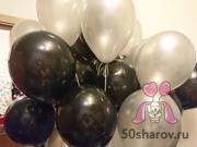Воздушные шары черные и белые